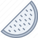 eating, food, fruit, slice, watermelon icon