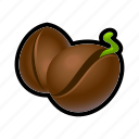 bean, coffee, farm, nature, seeds icon