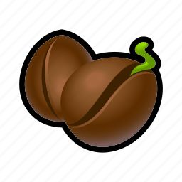 bean, coffee, farm, nature, seeds icon