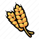 crops, farm, food, wheat icon