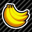 banana, food, fruit