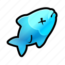 dead, fish, food icon