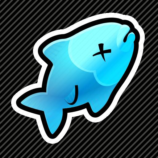dead, fish, food icon