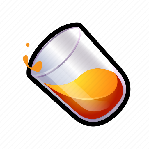food, fruit, glass, juice, liquid, orange icon