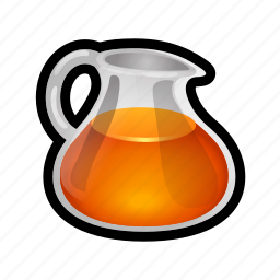 food, fruit, juice, liquid, orange, pitcher icon