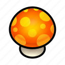 food, mushroom, orange icon