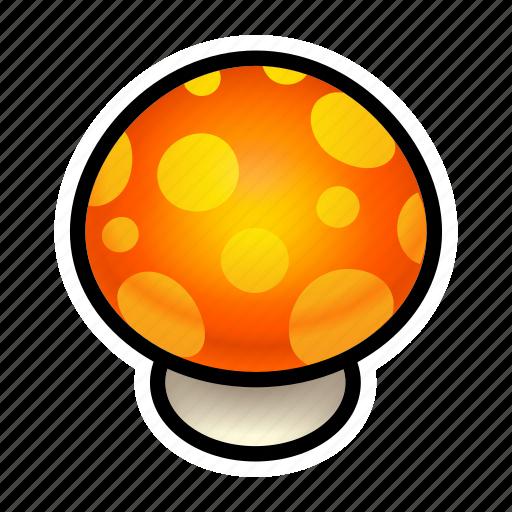 food, mushroom, orange icon