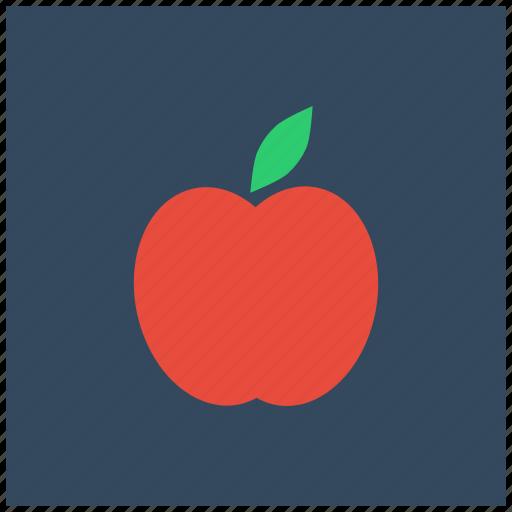 apple, food, fresh, fruit, healthy, organic, vegan icon