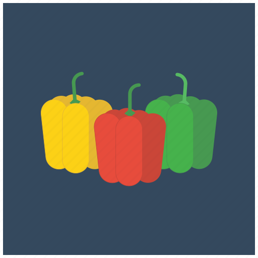 bell, food, fresh, fruit, healthy, pepper, red icon