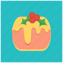 berries, cake, celebration, cheese, christmas, dessert, treat icon