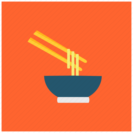 bowl, chinese cuisine, chopsticks, fastfood, italian, noodles, spaghetti icon