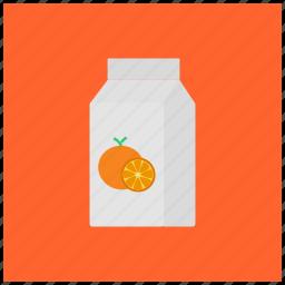 carton, drink, fruit, juice, orange, packaged, pulp icon