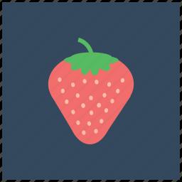 food, fruit, healthy, organic, romantic, strawberry, vegan icon