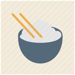 bowl, chinese, chopsticks, east asian, japanese, rice, thai icon