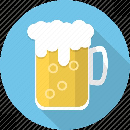 alcohol, beer, beer mug, beverage, foam, mug, oktoberfest icon