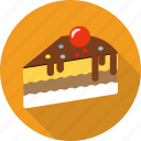 bakery, cake, cheesecake, chocolate, dessert, food, pie icon