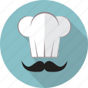 cap, chef, chef cap, cook, food, hat, restaurant icon