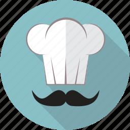 cap, chef, chef cap, cook, food, hat, restaurant icon