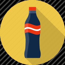 beverage, bottle, cola, drink, food, glass, soda icon