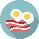 bacon, double yolk, egg white, egg yolk, eggs, food, fried eggs icon