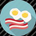 eggs, bacon, double yolk, egg white, egg yolk, food, fried eggs