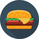 hamburger, fast food, cheeseburger, fast, sandwich, food, burger