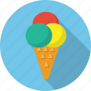 cream, food, ice, ice cream, ice cream cone, icecream, waffle cup icon