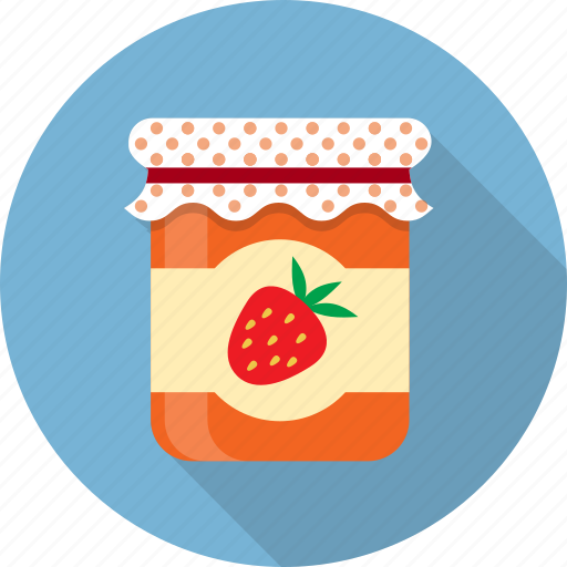 food, fruit, jam, jar, jelly, preserved, strawberry icon