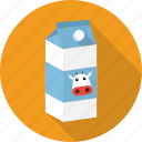 paper, milk, carton, drink, cow, pack