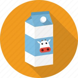 carton, cow, drink, milk, pack, paper icon