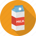 cardboard, drink, food, milk, pack, paper icon