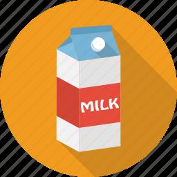 cardboard, drink, food, milk, pack, paper icon