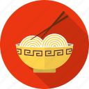 bowl, chopstick, food, noodle, noodles, pasta, spaghetti icon