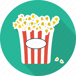 cinema, entertainment, food, movie, pop corn, popcorn, restaurant icon
