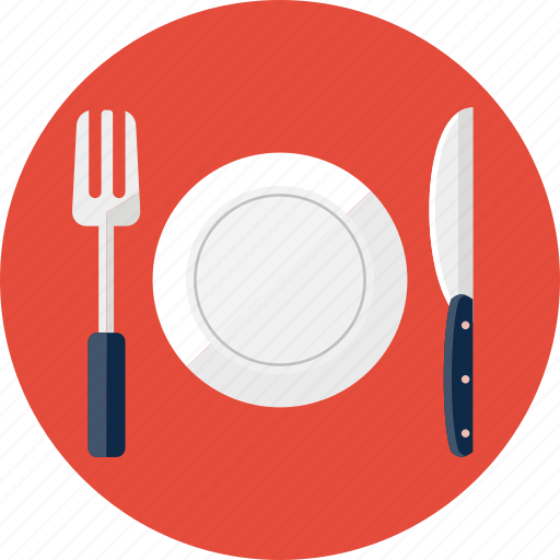 Food, fork, knife, lunch, plate, restaurant icon | Icon ...