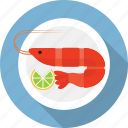 food, marine, prawn, restaurant, sea, seafood, shrimp icon