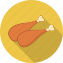 barbeque, bbq, drumstick, food, grill, poultry, stick icon