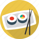 chopsticks, fish, food, sea, seafood, sushi icon
