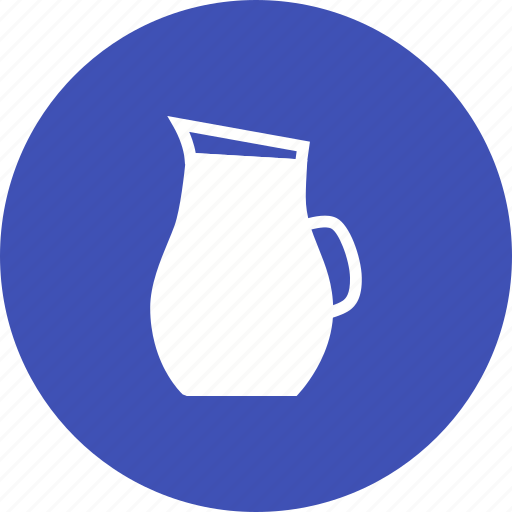 drink, fresh, glass, healthy, jug, water, white icon