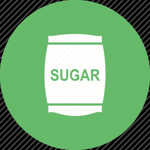 bag, bags, food, package, sugar, sweet, white icon