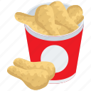 fast food, fired chicken wings, food, fried wings, junk food icon