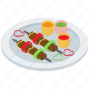 bbq skewer, brunch, dinner platter, fast food, grilled food, smoked food icon