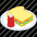 bread sandwich, cheese sandwich, club sandwich, sandwich platter, veg sandwich icon
