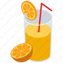 fresh juice, fruit juice, juice glass, orange juice, soft drink icon