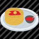 breakfast cake, griddle cake, maple sauce, pancake, syrup pancake icon