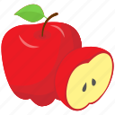 fruit, healthy diet, healthy food, nutritious, red apple icon