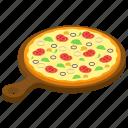 fast food, iltalian sausage pizza, italian pizza, junk food, sausage pizza icon