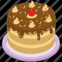 black forest cake, cake, chocolate cake, chocolate cream cake, frosted cake icon