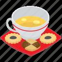 bakery food, tea cup, tea time, tea time cookies, tea time snack icon