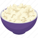 cheese bowl, cottage cheese bowl, dairy product, engraving cheese, heathy food icon